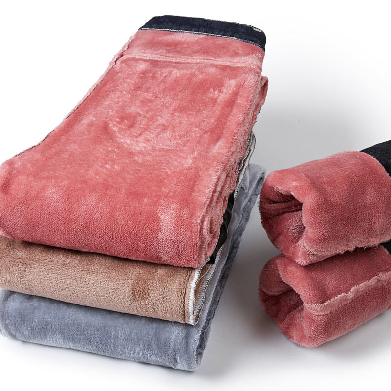 Plus Velvet High Waist Jeans Women Pants Slim Elastic Warm Vintage Jean Femme Denim Pencil Pants Thick Skinny Jeans Winter Q1049