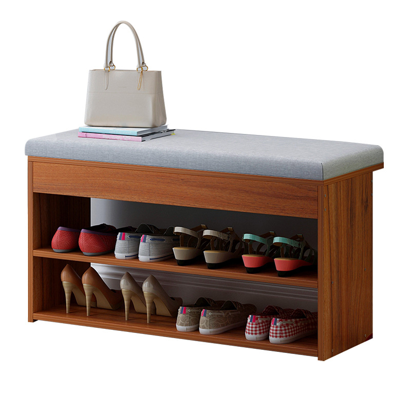 Minimalist Modern Change Shoes Bench Entryway Storage Shoes Cabinet Multi functional Creative Nordic Wooden Shoe Organizer Rack