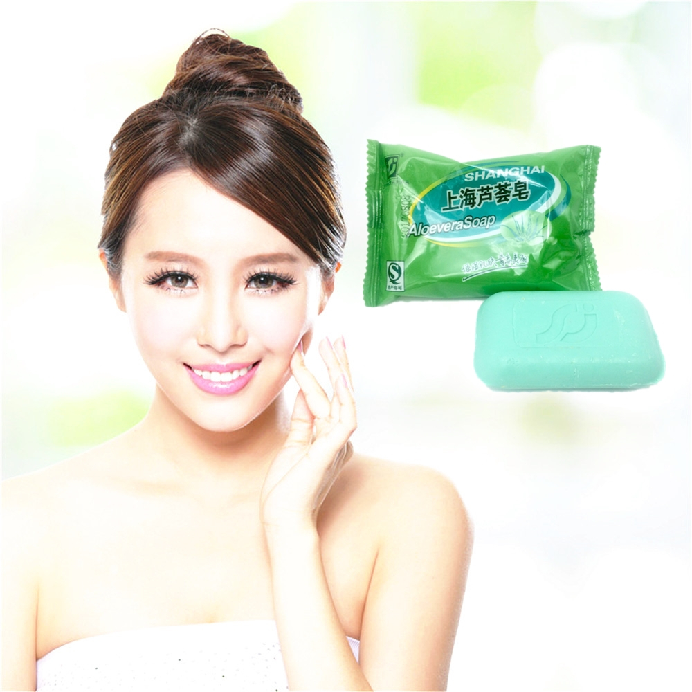 Hot Selling Natural Aloe Vera Soap Body Whitening Soap Private Parts Labia Perineum Pink Removing Face Care Whiten 1pcs