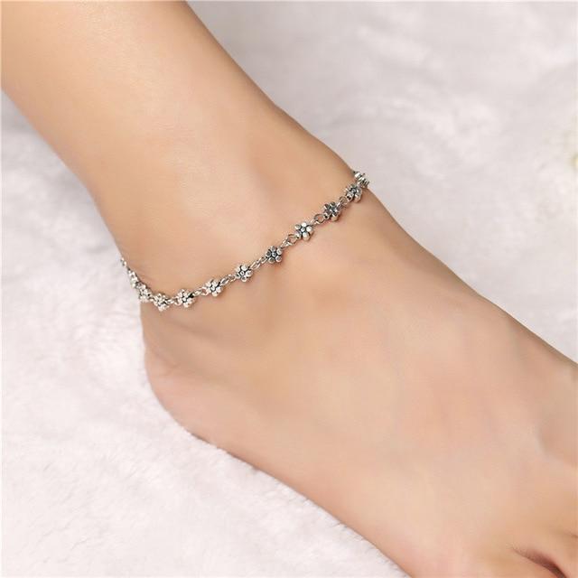 Women Summer Foot Jewelry Vintage Sexy Round Flower Hand ...
