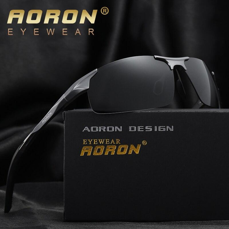 AORON Aluminum Magnesium Men s Sunglasses Polarized Coating Mirror Sun  Glasses oculos Male Eyewear Accessories For Men c33e37aba9