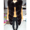 Russia popular New Winter Genuine Fox Fur Vest Women's Full Pelt Gilet Warm Luxury Real Natural Fox Fur Waistcoat  A#9