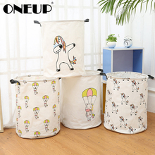 ONEUP Folding Laundry Storage Basket for Toys Picnic Large Storage Bag Washing Dirty Clothes Basket Laundry Organizer Bin Handle