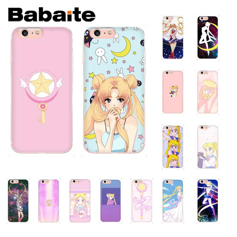 Yinuoda Girl Sailor Moon Anime Pattern Tpu Soft Phone Case For Iphone 8 7 6 6s 6plus X Xs Max 5 5s Se Xr 10 Cover Phone Bags & Cases