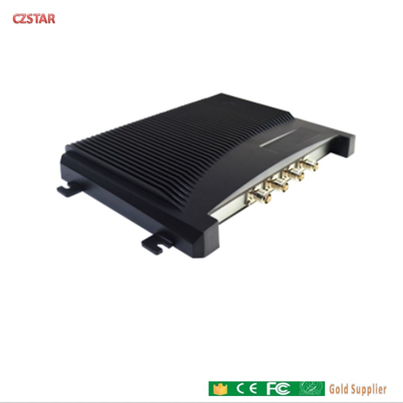 4 Port UHF RFID Fixed Reader Impinj Chip Passive Long Range Reader Work With Multi Antenna Tag For Warehouse Medical Management