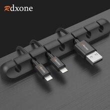Rdxone 5 ชิ้นสาย USB Winder Desktop Tidy CABLE Organizer คลิปการจัดการสายสำหรับแผ่นหูฟังหูฟัง