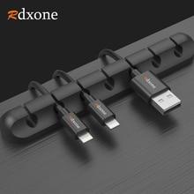 Rdxone 5 pièces USB câble enrouleur bureau bien rangé câble organisateur gestion Clips support de câble pour souris casque écouteur
