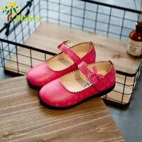 J Ghee 2017 Girls Shoes Little Girl Toddler Flat Shoes Kids Princess Cartoon Shoes Euro 21-30 Children's Wedding Party Sneakers