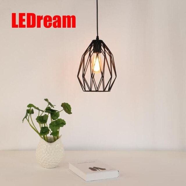 E27 Creative Loft Vintage Geometry Pendant Lamp Iron Retro Northern Europe  American Industrial Style Edison Pendant