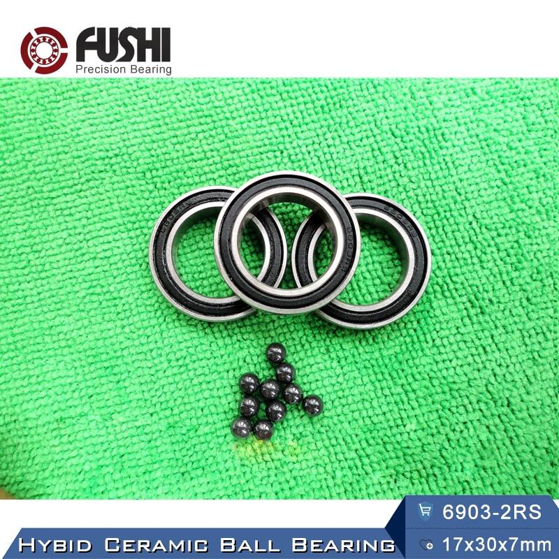 6903 Hybrid Ceramic Bearing 17x30x7 mm ABEC-1 ( 1 PC ) Bicycle Bottom Brackets & Spares 6903RS Si3N4 Ball Bearings коньки onlitop abec 7 30 33 1231445