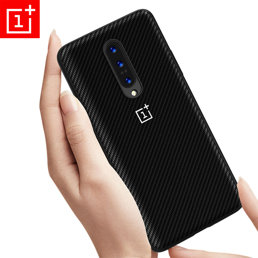 Oneplus 7 Pro Case Cover Oneplus 7 Pro 6T 6 5T 5 Carbon Fiber Texture Leather Back Case One Plus 6T 6 5 Shockproof Full Funda