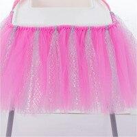 Fashion Tutu Tulle Table Skirts Baby Shower Decorations Chair Skirt Children Boys Girls Birthday Event Decor
