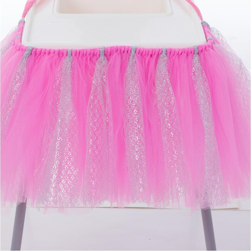 Tutu Tulle Table Skirts Baby Shower Decorations Chair Skirt Children Boys Girls Birthday Event Decor Supplies Party Christmas