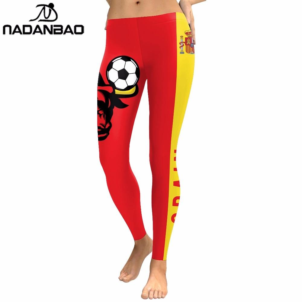 NADANBAO Summer 2018 Women Leggings Spain Bull Matador Digital Print Leggins Cheer For Winner Workout High Waist Pants Legging