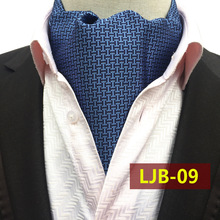 Gentleman Fashion Ascot Tie Men Necktie Retro Neckerchief Business Regular Geometry British Style
