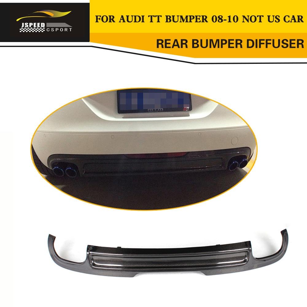 Углеродного волокна Авто бампера Диффузор для Audi TT 8J Стандартный бампер 08 10 подходят нам