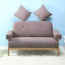 MID Century Modern Цвет ful Лен Ткань диван loveseat темно-серый/голубой цвет Мебель для гостиной Домашний уголок ленивый диван