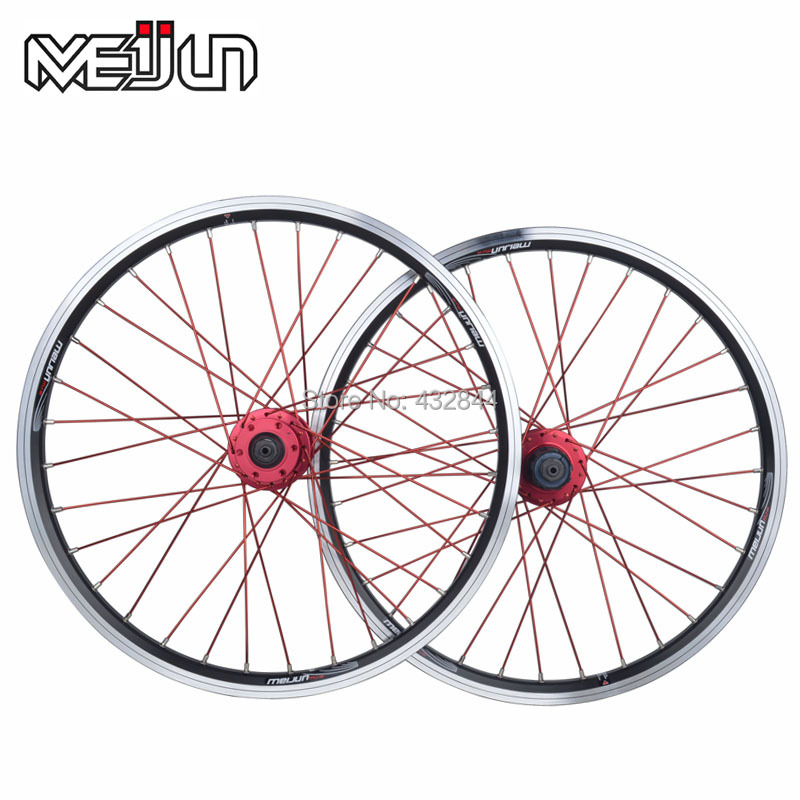 Meijun folding bicycle /MTB mountain bike wheel 20 406 26 high quality aluminum alloy v disc wheels rim multi-color 2018 anima 27 5 carbon mountain bike with slx aluminium wheels 33 speed hydraulic disc brake 650b mtb bicycle