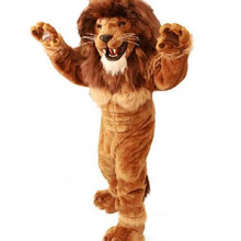 fa02bb1b6 Friendly Lion Mascot Costume Adult Size Wild Animal Male Lion King Carnival  Party Mascotte Fit Suit