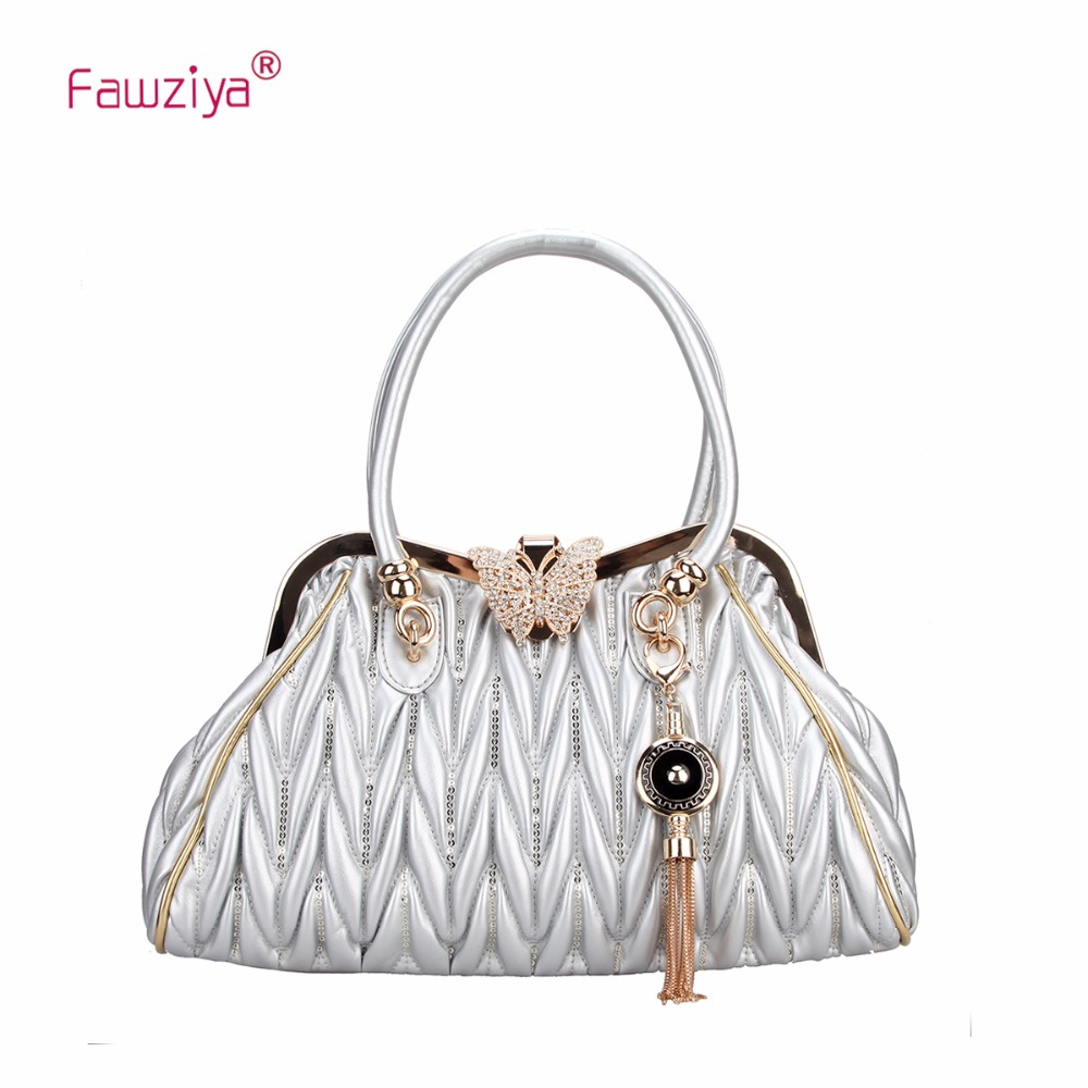 Fawziya Tassel Butterfly Handbags For Women With Chain Straps Pu Large Tote Bag retro tiny bell tassel anklet for women