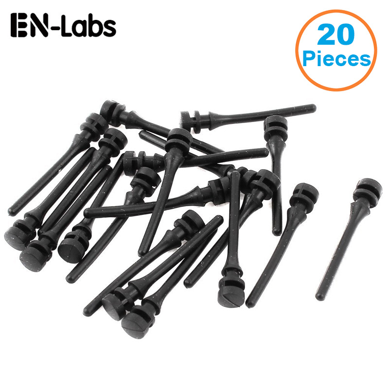 20pcs/lot Computer PC Case Fan Mounting Pin Anti Rivets Silicone Shock Absorption Reduction Noise Vibration Silicone Screws