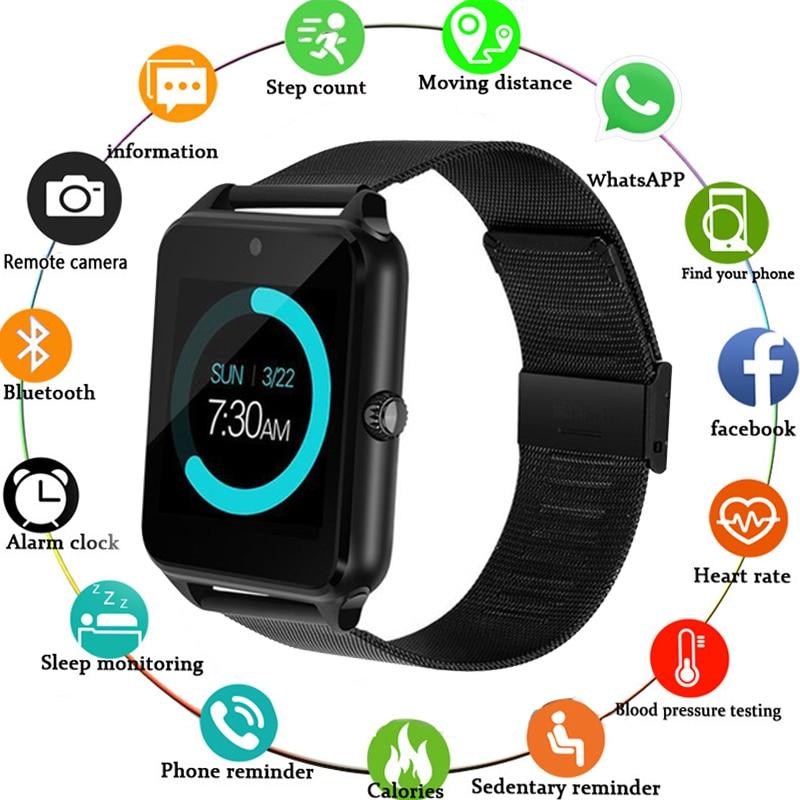 Smart Watch Z60 GT09 Men Women Bluetooth Wrist Smartwatch Support SIM TF Card Wristwatch For Apple