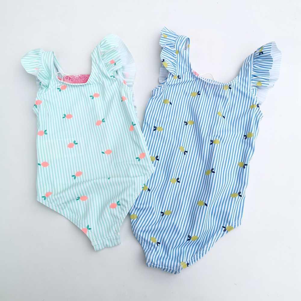 Chumhey 1-3T bebek kız mayo bebek mayo Bebe tek parça banyo takım elbise çocuklar yaz mayo bebekler mayo