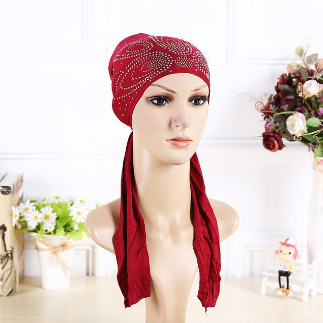 10 Colors Cotton under cover  Muslim Cotton Hijab Cap Islamic Head Wear Wholesale woman bonnet caps hijab