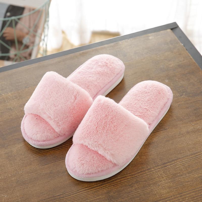 Hot Women Slippers Fashion Spring Summer Autumn Plush Slippers Women Faux Fur Slides Flip Flops Flat Shoes large Size #10 все цены