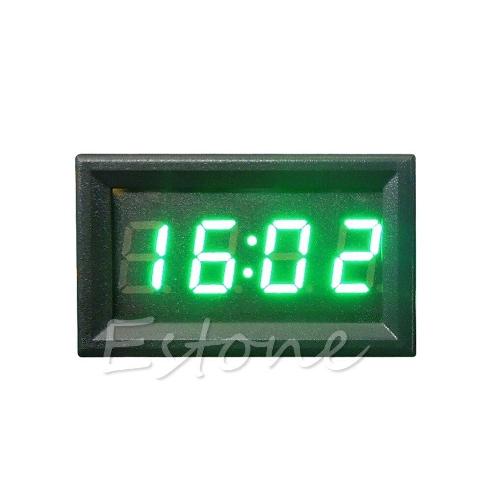 LED Display Digital Clock 12V 24V Dashboard Car Motorcycle Accessory 1PC