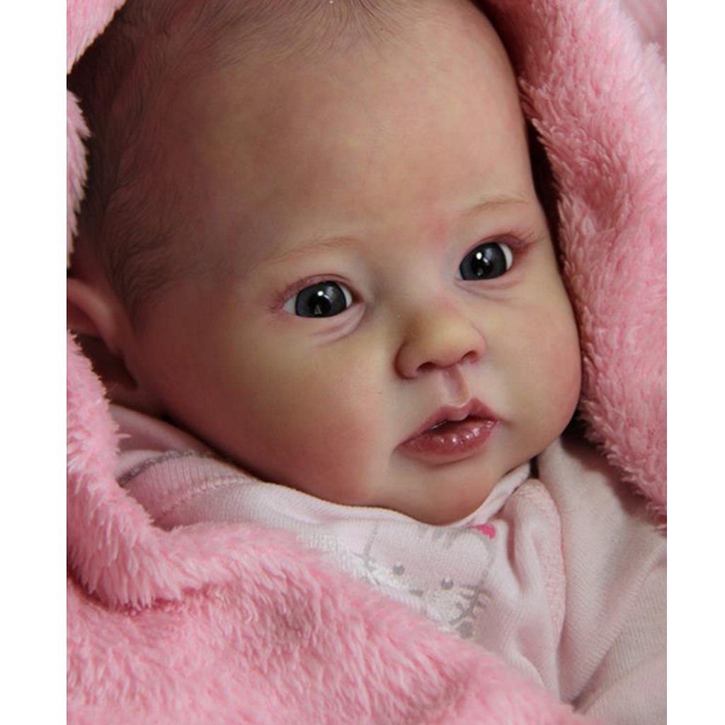 Real Touch 22inch Unpainted Reborn Kits Baby Doll Soft Silicone Head 3/4 Arms Full Legs Mold Making Different Appearance
