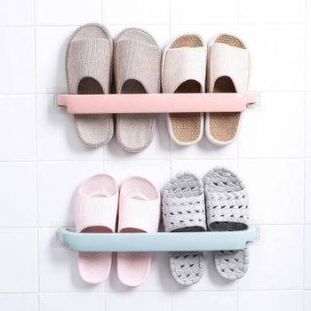 Prosty stojak na buty łazienka naścienny wieszak na ręczniki wieszak na ręczniki bez dziur półka na ręczniki toaletowe wieszak na ręczniki domowe tanie i dobre opinie Typ ścienny 6921 Pa + pe