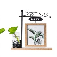 Photo Frame Set Simple Wooden Creative 6 Inch Wrought Iron Ornaments Frame Cute Ins Lip Print