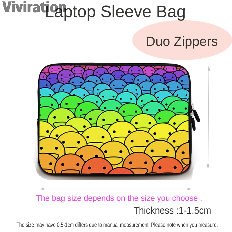 """Image 4 - 2015 17"""" 15"""" 15.6"""" 13.3"""" 13"""" 12"""" 11.6"""" 10"""" 9.7"""" 7"""" 14"""" Neoprene Laptop Tablet Netbook Sleeve Bag Cover Funda Bolsas Cases Pouch-in Laptop Bags & Cases from Computer & Office"""