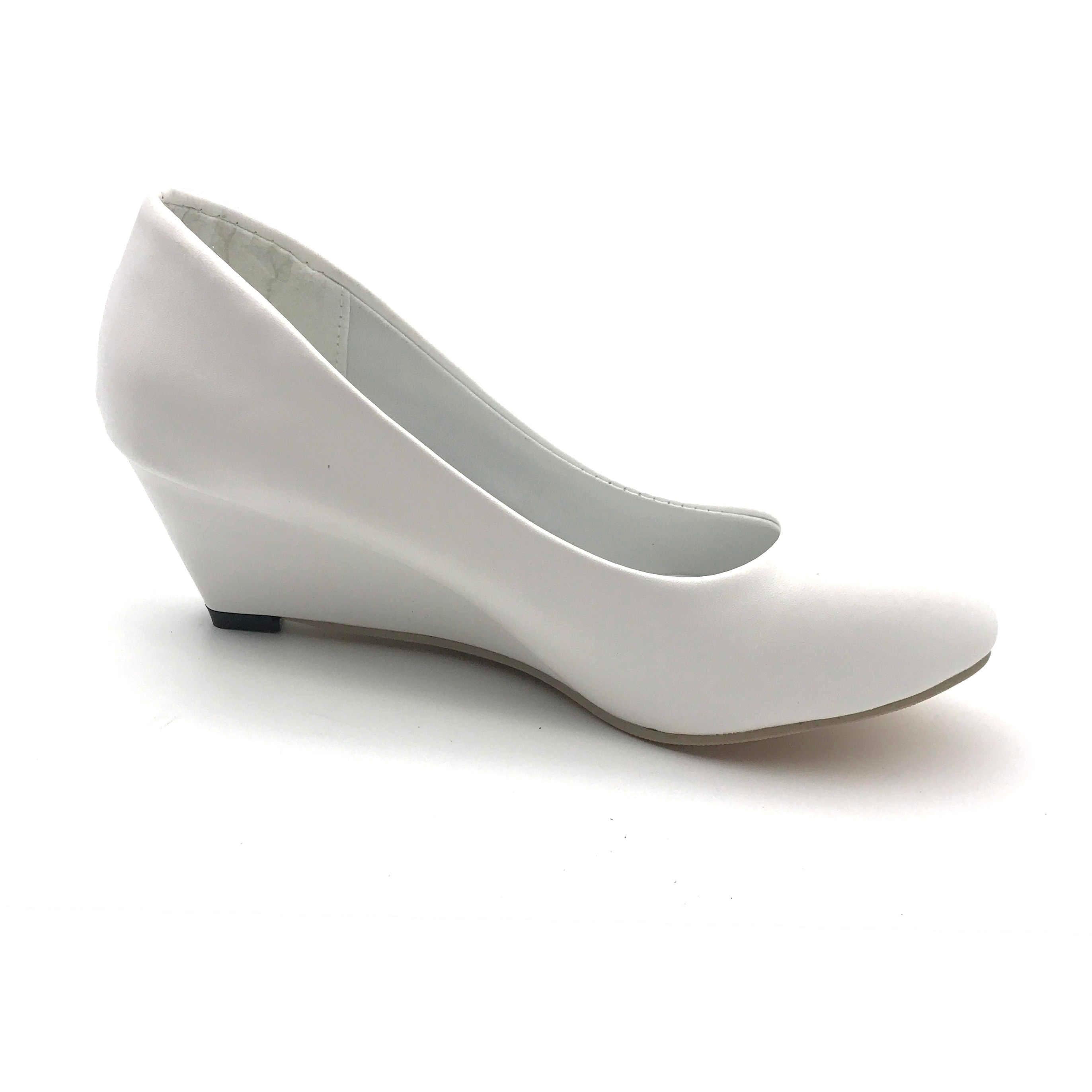 ffe24de563 Spring Autumn Office Lady Shoes Woman Wedges Pumps High Heels White Wedding  Shoes Women Boat Shoes Ladies Basic Pump 28H18