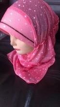 New arrival islamic head scarf  Size 2-8 years old kids girl muslim hijabs