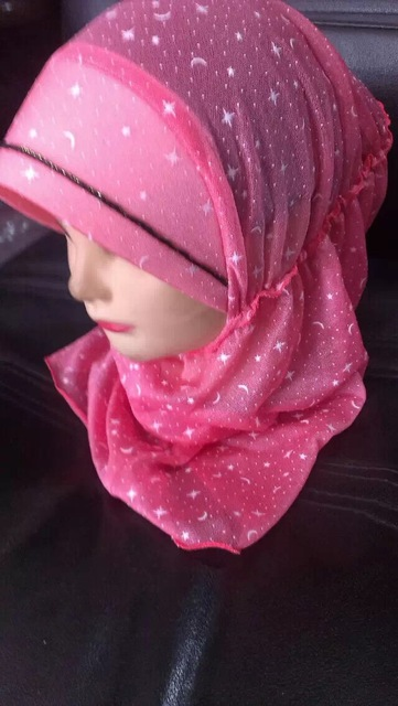 New arrival islamic head scarf  Size 2-8 years old kids girl muslim hijabs