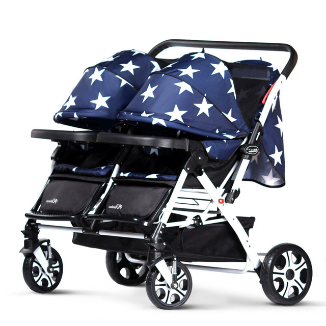Twin Prams Travel Systems: Baby Twins Double Luxury Stroller Newborn Foldable Brand