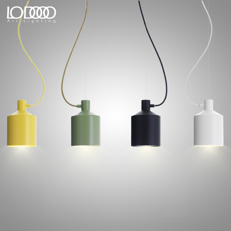 LODOOO DIY Modern E27 Pendant Lights For Dining Bar Kitchen Room Black/White/Green/Red/Yellow Deco Hanging Pendant Lamp Fixtures modern guard dining room pendant lights white black golden silver lamp