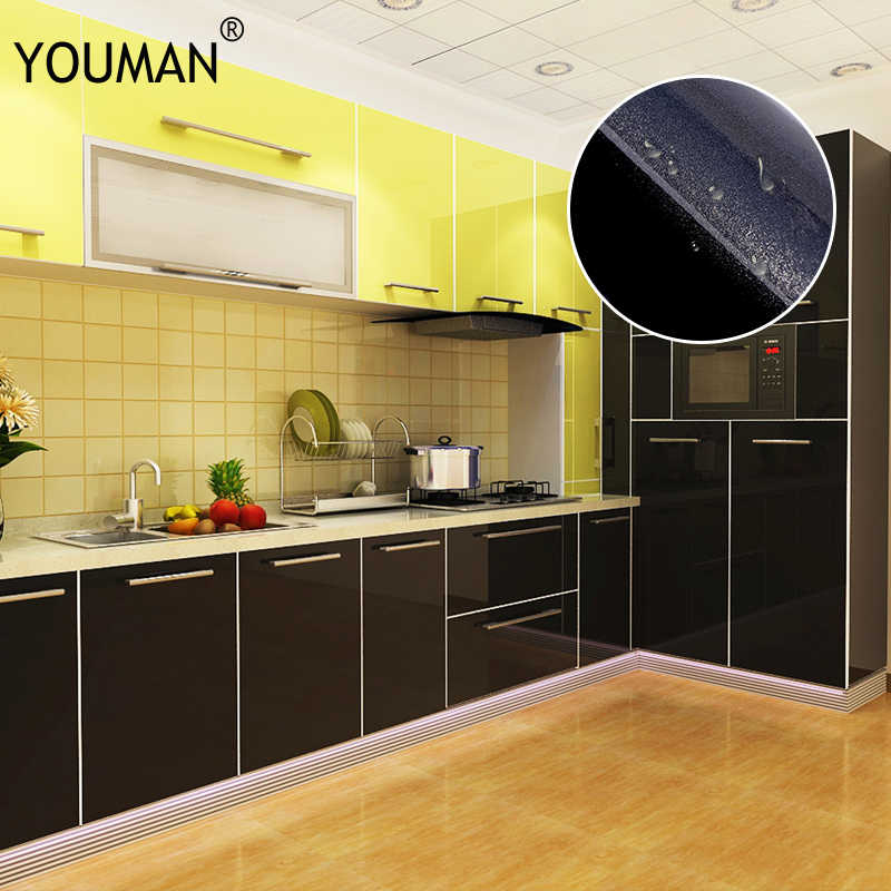 Modern Self Adhesive Wallpapers Roll Peel And Stick Wall Papers Home Decor For Kitchen Backsplash Tile Living Black Sticker Wallpapers Aliexpress