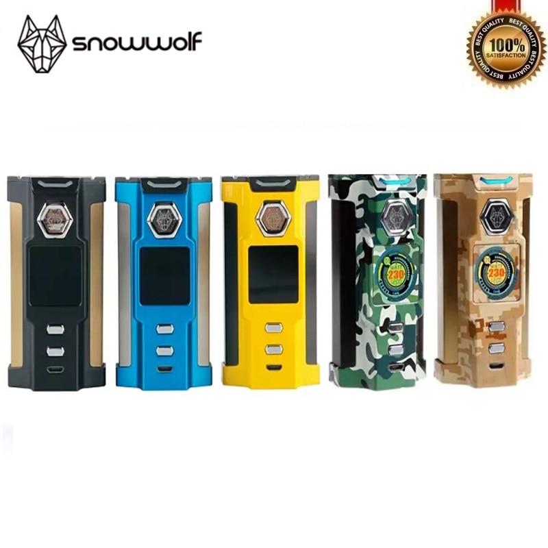 100% Original Sigelei Snowwolf VFeng 230 W Mod grand O LED affichage lumière LED Vape TC 18650 boîte Mod Fit Mods de cigarettes électroniques