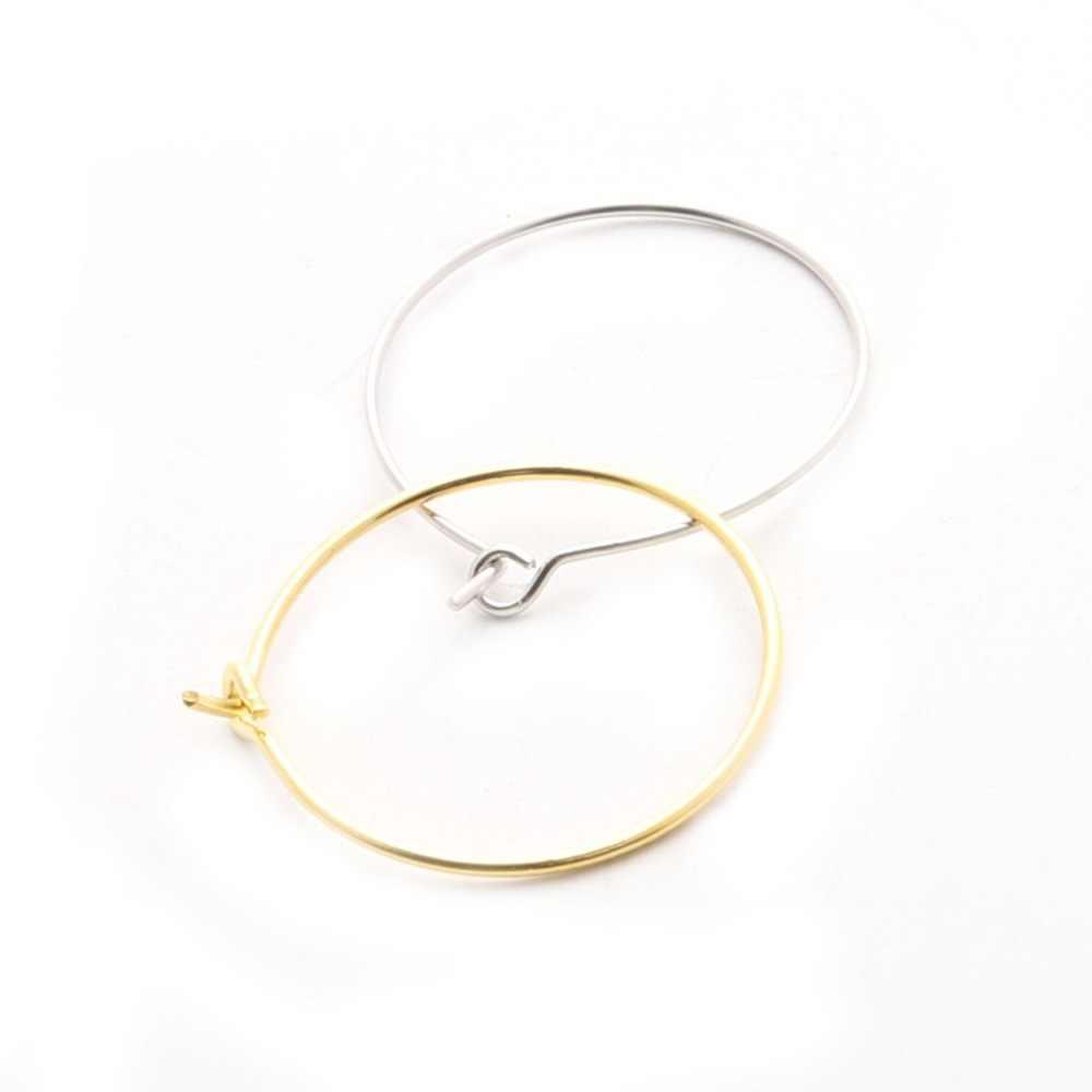 חדש הגעה 100 יח'\חבילה זהב/רודיום מצופה יין זכוכית טבעות קסם/עגיל חישוקים 19mm עבור DIY עגילים תכשיטי ממצאי