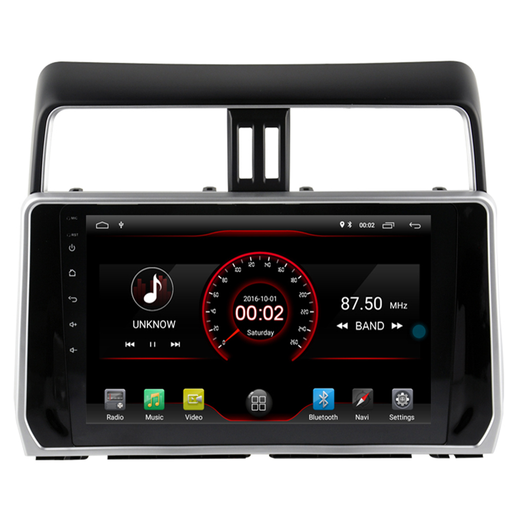 10.2 inch 4 Core 2+16G Android9.1 for <font><b>Toyota</b></font> Land cruiser Prado 120 <font><b>150</b></font> <font><b>2018</b></font> Car DVD Player gps <font><b>Radio</b></font> RDS Navigation BT WIFI Map image