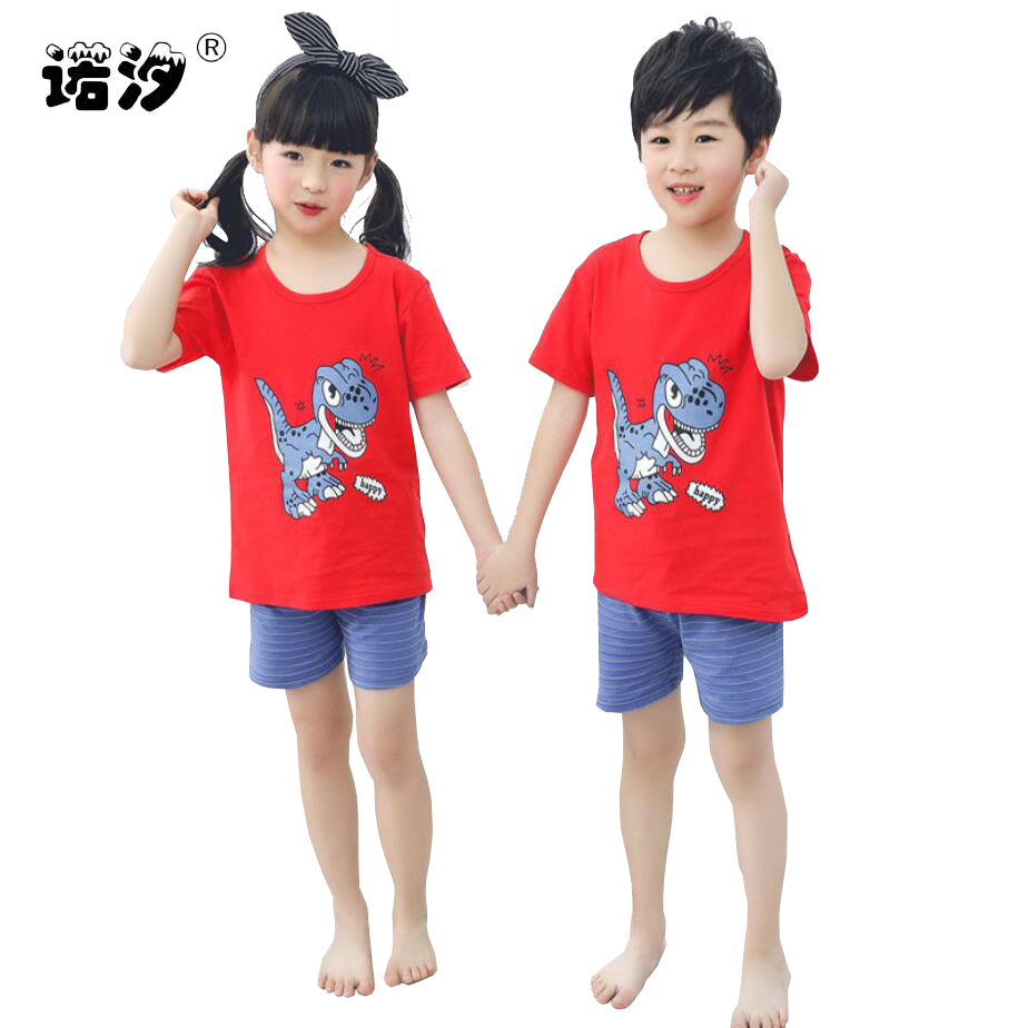child summer season clothes units boys women cartoon vest+pants 2pcs/set toddler t-shirt+trousers 1-7 little child pure cotton shirt pants Clothes Units, Low-cost Clothes Units, child summer season clothes units...
