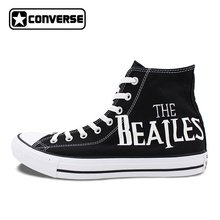 Sneakers Men Women Converse Chuck Taylor The Beatles Abbey Road Original Design Hand Painted Shoes Man Woman Skateboarding Shoes