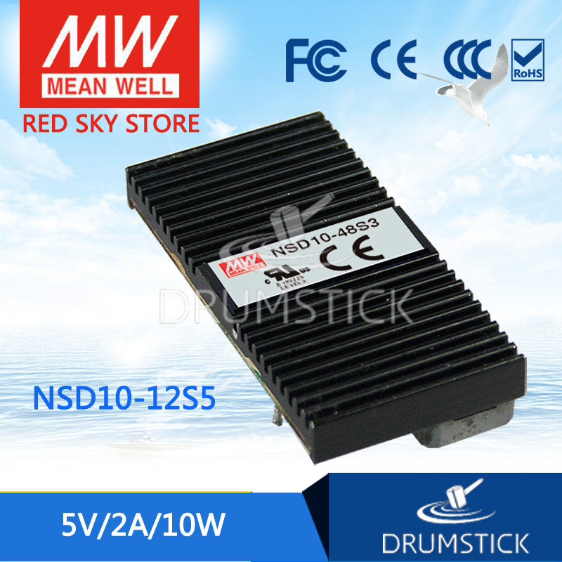 цена на Advantages MEAN WELL NSD10-12S5 5V 2A meanwell NSD10 5V 10W DC-DC Regulated Single Output Converter