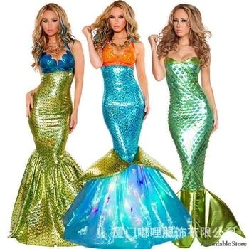 Ngày Valentine Trang Phục Halloween Trang Phục cos mermaid dress adult sexy váy cosplay costume