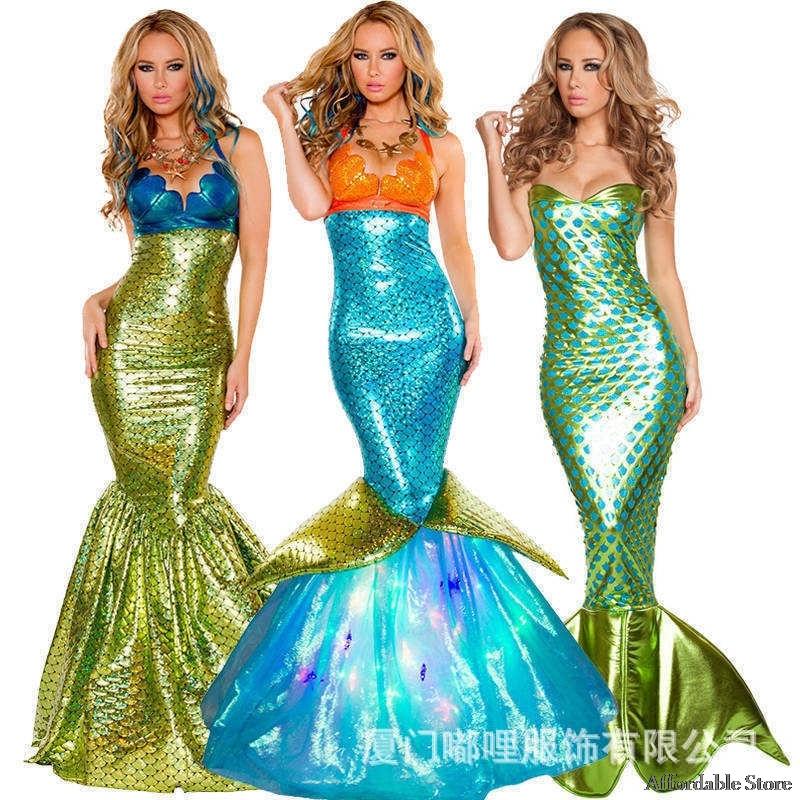 Valentine's Day Costume Halloween Costume cos mermaid dress adult sexy skirt cosplay costume