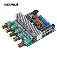 Aiyima tpa3116 2.1 amplificador bluetooth, placa 4.2, channel high power bluetooth DC12V 24V, 2*50w + 100w amplificador