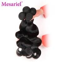 Mesariel Brazilian Non Remy Hair Free Shipping Natural Black Color 100 Human Hair Weaving Body Wave
